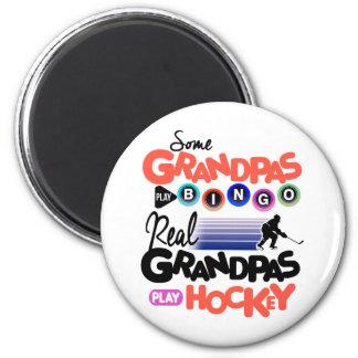 Some Grandpas Play Bingo Real Grandpas Play Hockey Magnet