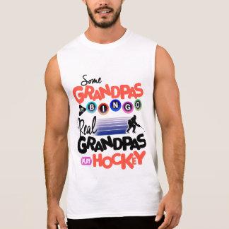 Some Grandpas Play Bingo Real Grandpas Play Hockey Sleeveless Shirt