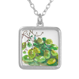 Some grapes silver plated necklace
