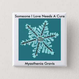 Some I Love Needs A Cure- Myasthenia Gravis 15 Cm Square Badge