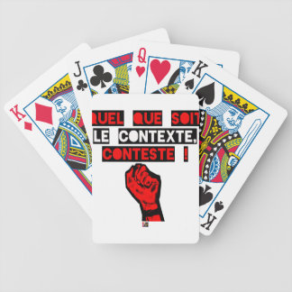 Some is the CONTEXT DISPUTES! - Word games Bicycle Playing Cards
