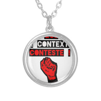 Some is the CONTEXT DISPUTES! - Word games Silver Plated Necklace
