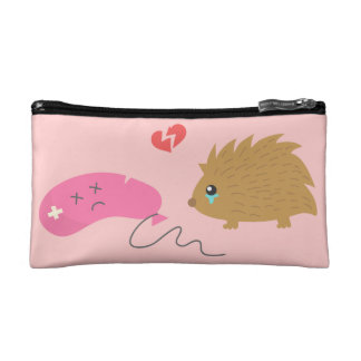 Some Love is not meant to be, funny hedgehog Cosmetics Bags
