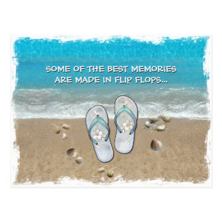 Some of the Best Memories are made in Flip Flops Postcard