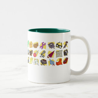 """Some of the neat stuff I've picked up."" Two-Tone Coffee Mug"