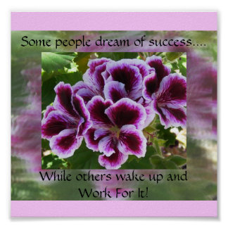 Some people dream of success motivational poster