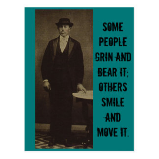 Some People Grin & Bear it... Postcard
