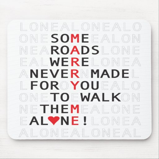 Some Roads Proposal Valentine Mouse Pads