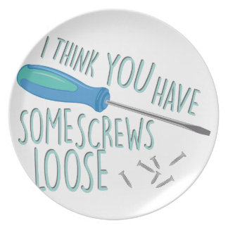 Some Screws Loose Dinner Plate
