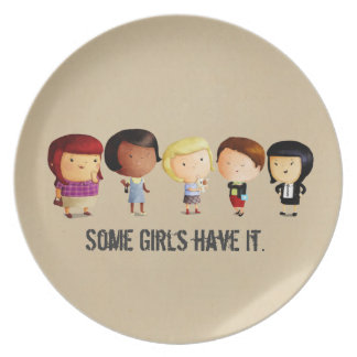 Some Subculture Girls Dinner Plates