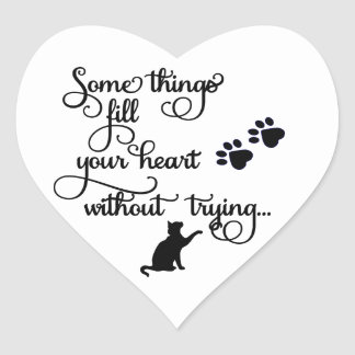 Some Things Fill My Heart... PawPrints Heart Sticker