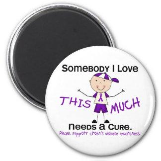 Somebody I Love - Crohns Disease (Boy) Magnets