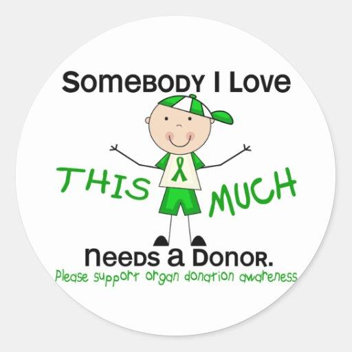 Somebody I Love - Organ Donation (Boy) Sticker
