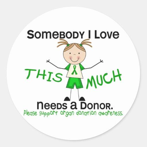Somebody I Love - Organ Donation (Girl) Sticker