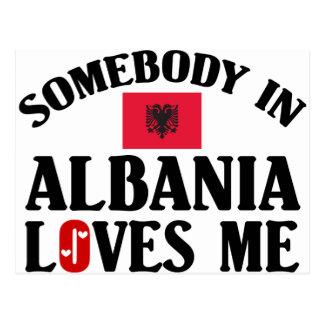 Somebody In Albania Postcard