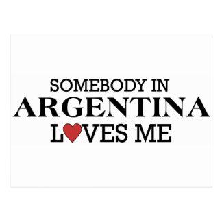 Somebody In Argentina Postcard