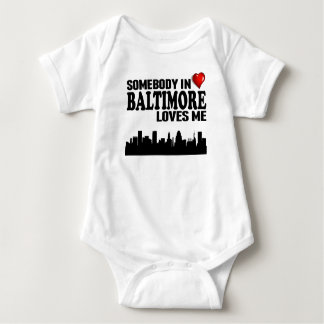 Somebody In Baltimore Loves Me Baby Bodysuit