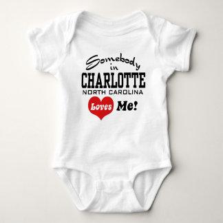 Somebody in Charlotte North Carolina Loves Me Baby Bodysuit