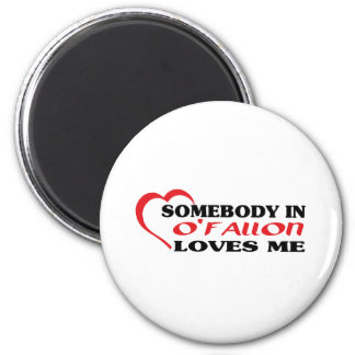 Somebody in loves me t shirt refrigerator magnets