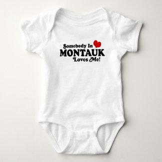 Somebody In Montauk Loves Me Baby Bodysuit