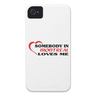 Somebody in Montreal loves me Case-Mate iPhone 4 Cases