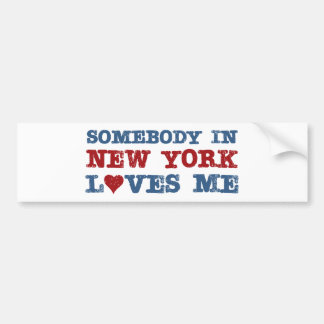 Somebody in New York Loves Me Bumper Sticker