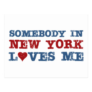 Somebody in New York Loves Me Postcard