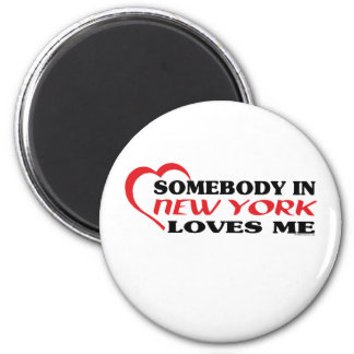 Somebody in New York Loves Me shirts 6 Cm Round Magnet