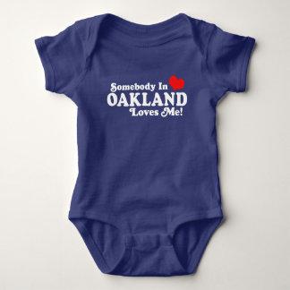 Somebody In Oakland Loves Me Baby Bodysuit