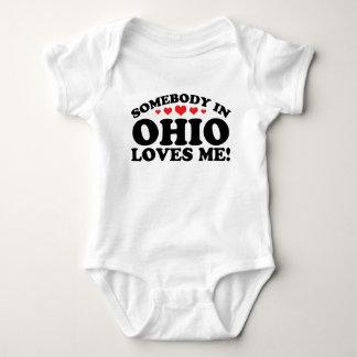 Somebody In Ohio Loves Me Baby Bodysuit