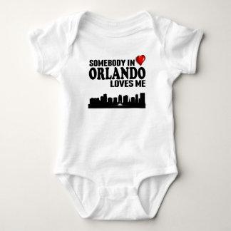 Somebody In Orlando Loves Me Baby Bodysuit