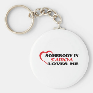 Somebody in Samoa Loves Me Basic Round Button Key Ring