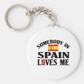 Somebody In Spain Loves Me Key Ring