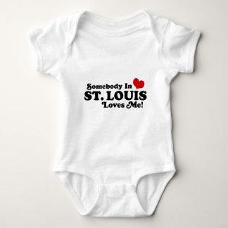Somebody in St. Louis Loves Me Baby Bodysuit