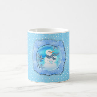 Somebody Loves You Emotional Snowman Coffee Mug