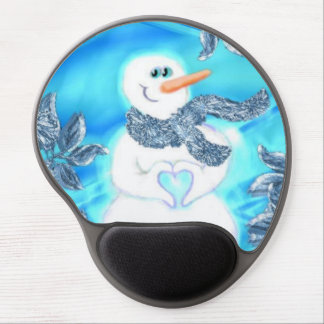 Somebody Loves You Emotional Snowman Gel Mousepad