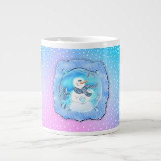 Somebody Loves You Emotional Snowman Large Coffee Mug