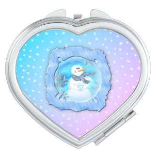 Somebody Loves You Emotional Snowman Mirrors For Makeup