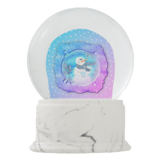 Somebody Loves You Emotional Snowman Snow Globe