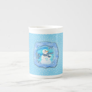 Somebody Loves You Emotional Snowman Tea Cup
