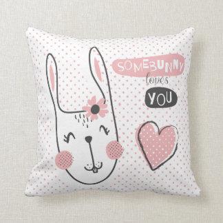 Somebunny loves you cushion