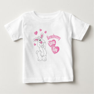 Somebunny Loves You Easter Bunny Baby T-Shirt