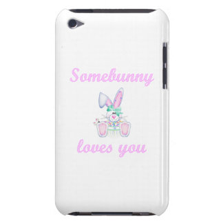Somebunny Loves You (girl bunny) iPod Touch Cover