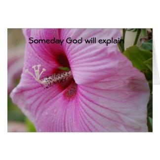 Someday God will explain Card