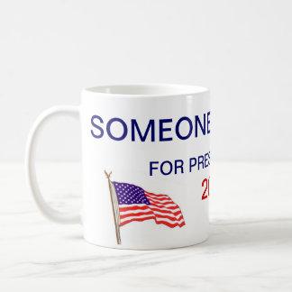 someone else for president basic white mug