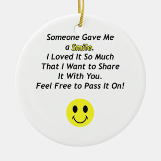 Someone Gave Me a Smile with Smiley Face Christmas Tree Ornaments