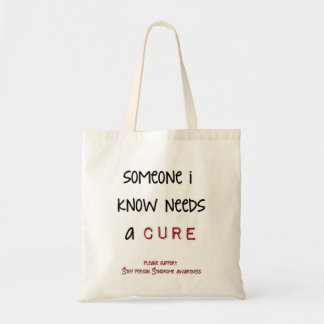 someone i know needs a cure budget tote bag