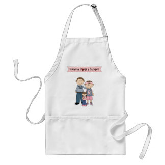 Someone I Love Is A Survivor Adult Apron