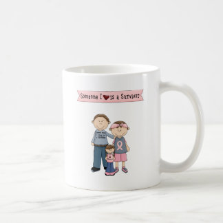 Someone I Love Is A Survivor Basic White Mug
