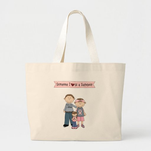 Someone I Love Is A Survivor Jumbo Tote Bag